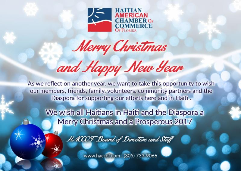 Happy Holidays from HACCOF...